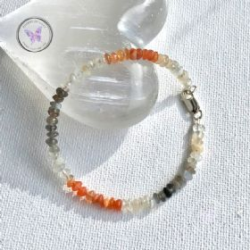 Multi Colour Moonstone Beaded Bracelet